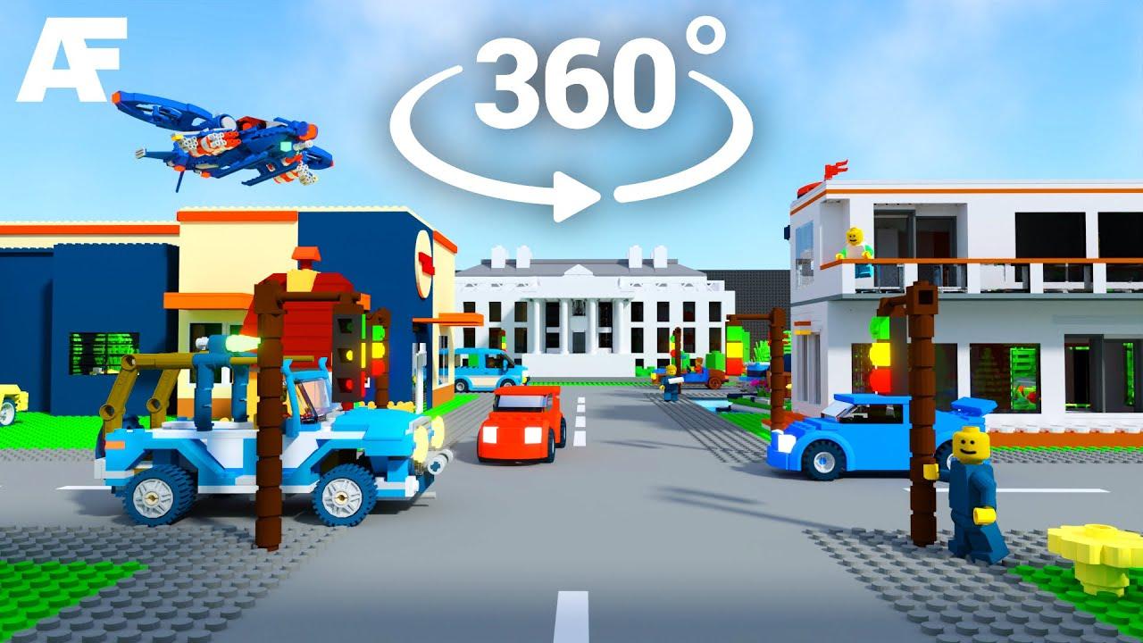 LEGO Virtual Reality World 3D Animated (360° + 3D) - YouTube