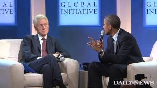 Bill Clinton and President Obama talk health care