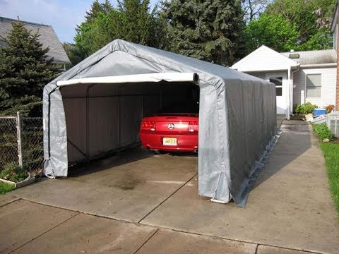 Texas Portable Garage Assembly - YouTube