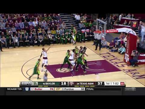 #24 Texas A&M vs #16 Baylor Basketball [Highlights]