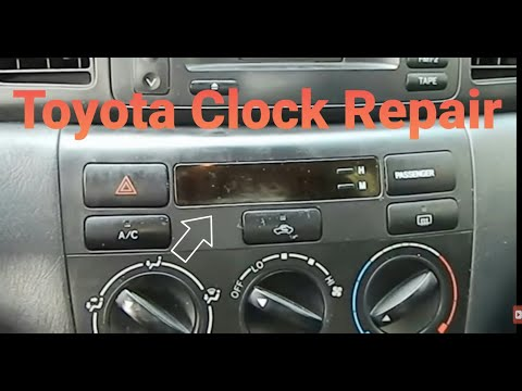 HOW TO REMOVE AND REPAIR CLOCK ON TOYOTA COROLLA 2003 2004 2005 2006 2007 2008 PART 1 (Removal)