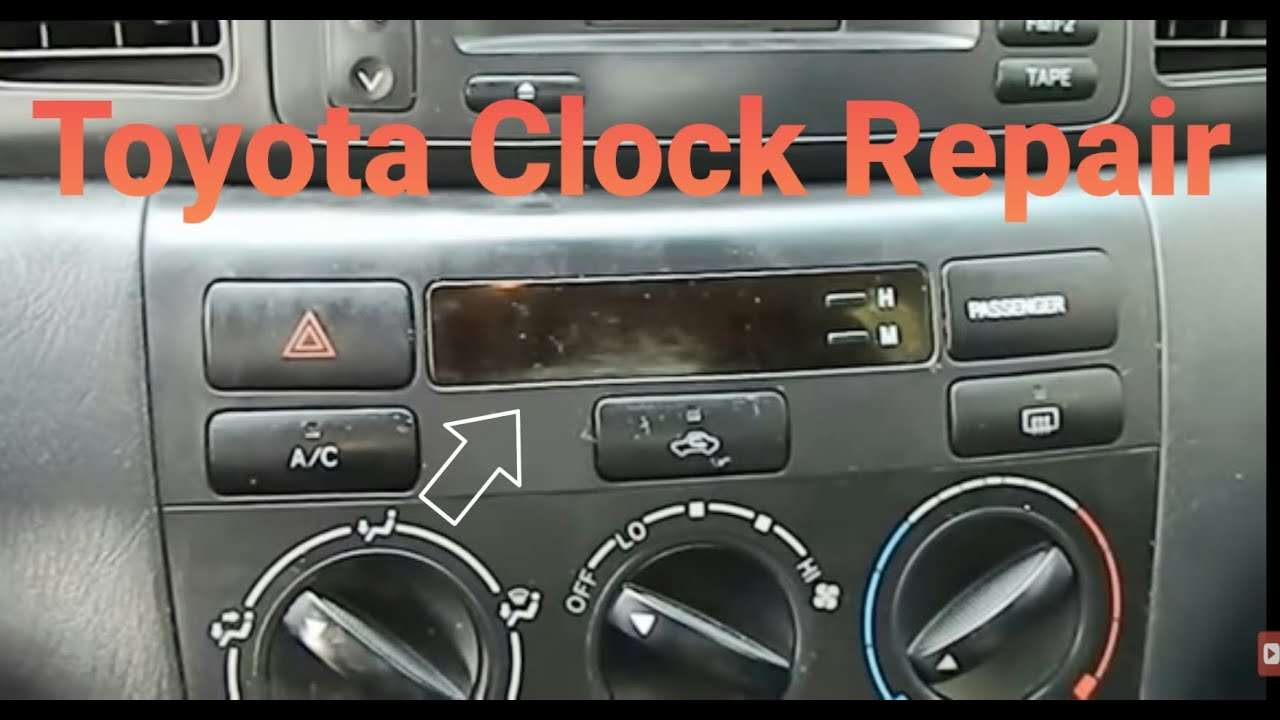 how to remove and repair clock on toyota corolla  how to remove and repair clock on toyota corolla 2003 2004 2005 2006 2007 2008 part 1 removal