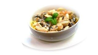 Speedy Chicken with Mushrooms in Garlic & Cream Sauce recipe