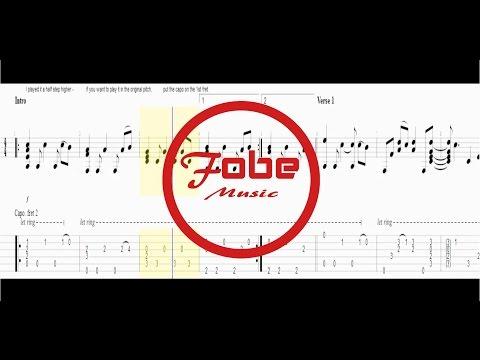 Johann Pachelbel - Canon in D / Acoustic Guitar Tab