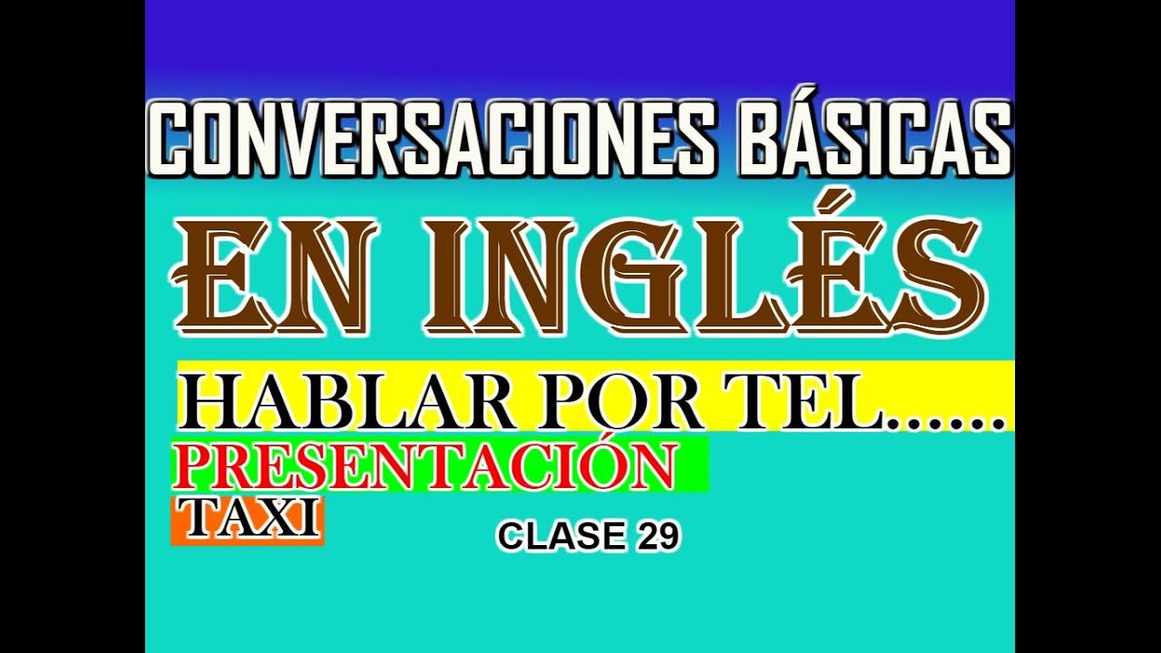 Conversaciones Básica En Inglés Youtube