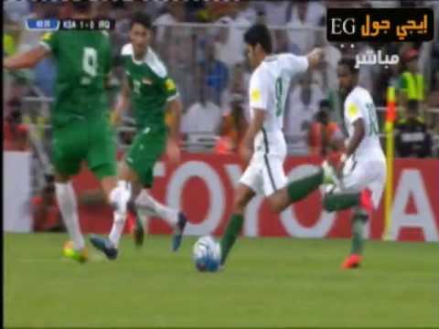 ملخص واهداف مبارة السعودية ضد العراق  الجولة السابعة من تصفيات كأس العالم لقارة اسيا Afc-world cup