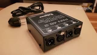 Tool-Tipp: Palmer PAN48 Phantomspeisung – Kondensator Mikrofon an DJ Mischpult anschließen
