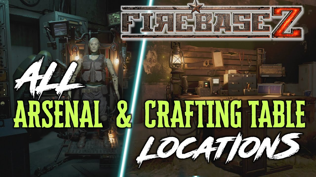 All Arsenal And Crafting Table Locations On Firebase Z Black Ops Cold War Zombies Beginner Guide Youtube