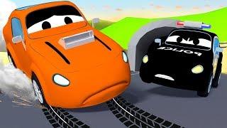 Der Streifenwagen in Autopolis -  Der Pizza Dieb - Lastwagen Zeichentrickfilme für Kinder 🚓 🚒