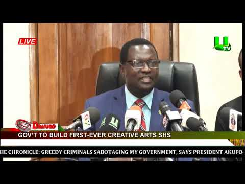 Govt To Build First Ever Creative Arts School