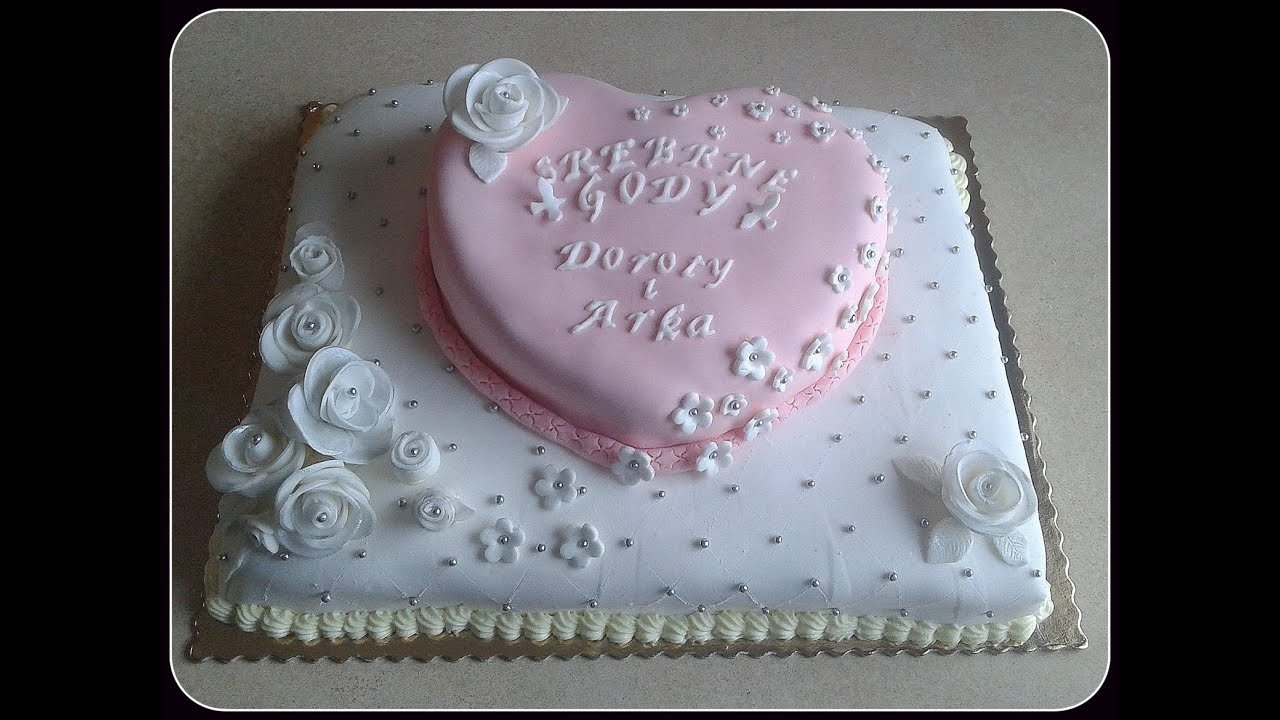 How To Make Silver Wedding Anniversary Cake Tort Na
