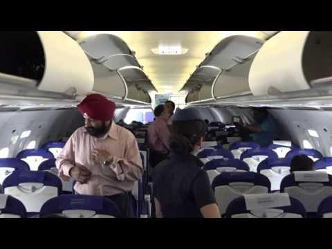 Interior of Mumbai - Delhi Indigo Airbus A320 (180 seater) !!!