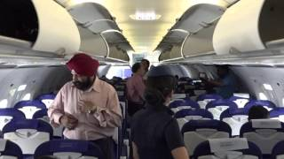 Interior of Mumbai - Delhi Indigo Airbus A320 (180 seater) !!!