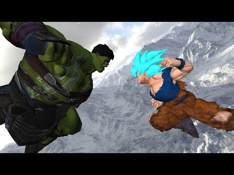 Goku VS Hulk - Part 2 - Dragon Ball Vs Marvel