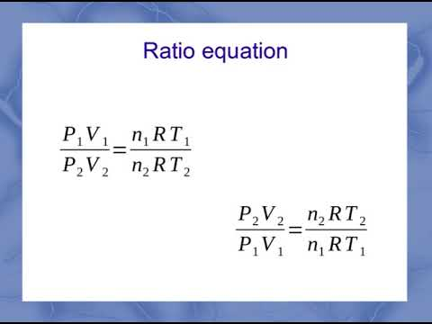 ideal gas law, ratio problems - YouTube
