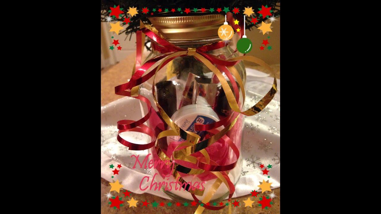 Diy inexpensive gift idea using mason jar youtube negle Gallery