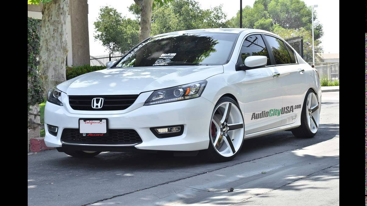 "Honda Accord Sedan 2014 on 20"" STR Wheels - YouTube"