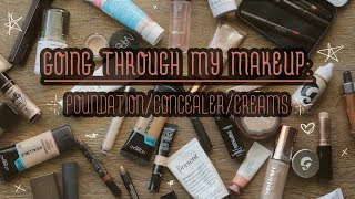 DECLUTTERING MY MAKEUP COLLECTION! | FOUNDATIONS/CONCEALERS/CREAM PRODUCT | Erin Reginato