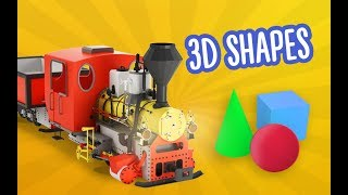 Shapes For Kids | Learn 3D Shapes with Train | Preschool Learning with Bambo-Jambo