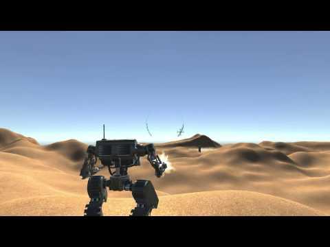Unity 3D Robot Starter Kit - Testing the new HUD