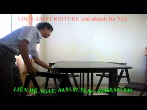 Bí mật BÀN GHẾ ĂN GẤP XẾP- Lộc Lâm Furniture.mpg
