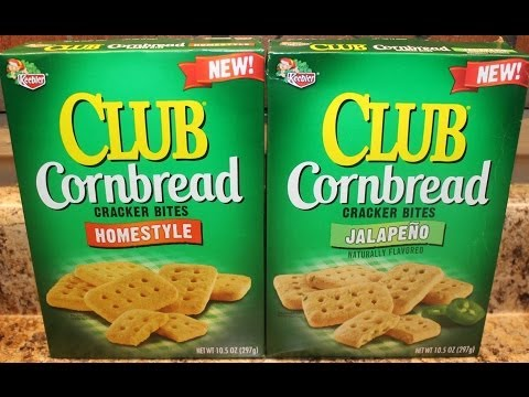 Keebler Club Cornbread: Homestyle & Jalapeno Crackers Review