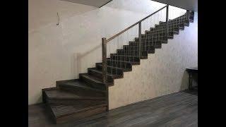 видео Купить элементы лестниц из дерева: перила, ступени, балясины