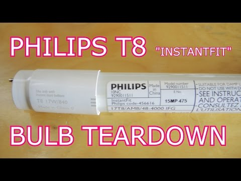Philips T8 Led Tube Tear Down The Most Boring Teardown Yet Youtube