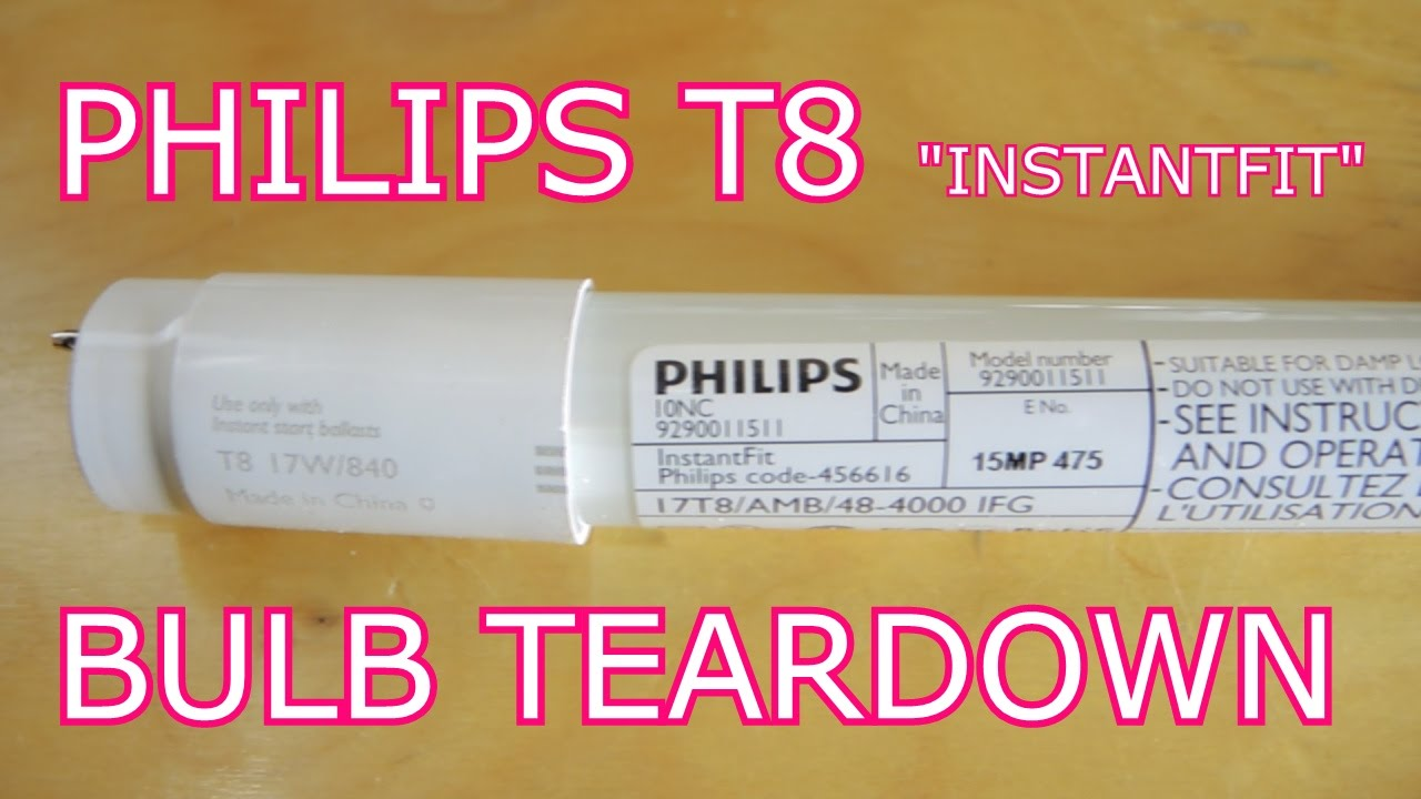 Led Tube Light Wiring Diagram Electrical In House Philips T8 Tear Down: The Most Boring Teardown Yet.... - Youtube