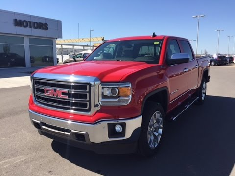 Fire Red 2015 GMC Sierra SLT 1500 4WD Crew Cab Full Size Truck At Scougall Motors