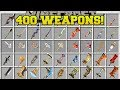 Minecraft: 400+ NEW WEAPONS!!! (BIGGEST WEAPON MOD IN MINECRAFT!) Mod Showcase