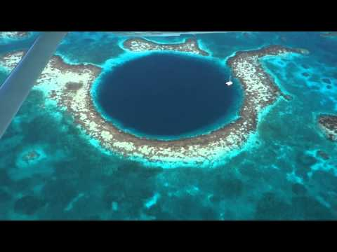 Flight Over The Great Blue Hole, Belize