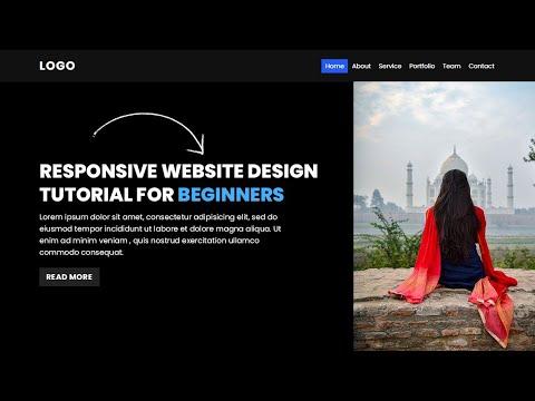 Responsive Website Design Tutorial For Beginners Using HTML CSS & Javascript