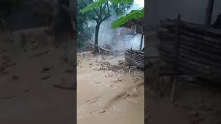 Mengerikan , detik2 banjir bandang