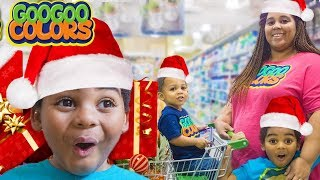 Goo Goo Gaga Help Mom Christmas Shop! (Learn The Importance of Giving)