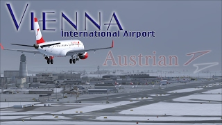 FSX [HD] - Austrian Airlines Embraer 195 | Approach to Vienna
