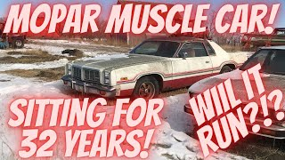 1977 Dodge Monaco parked for 32 years! Abandoned and Stuck 360 Engine! Will it Run?!?