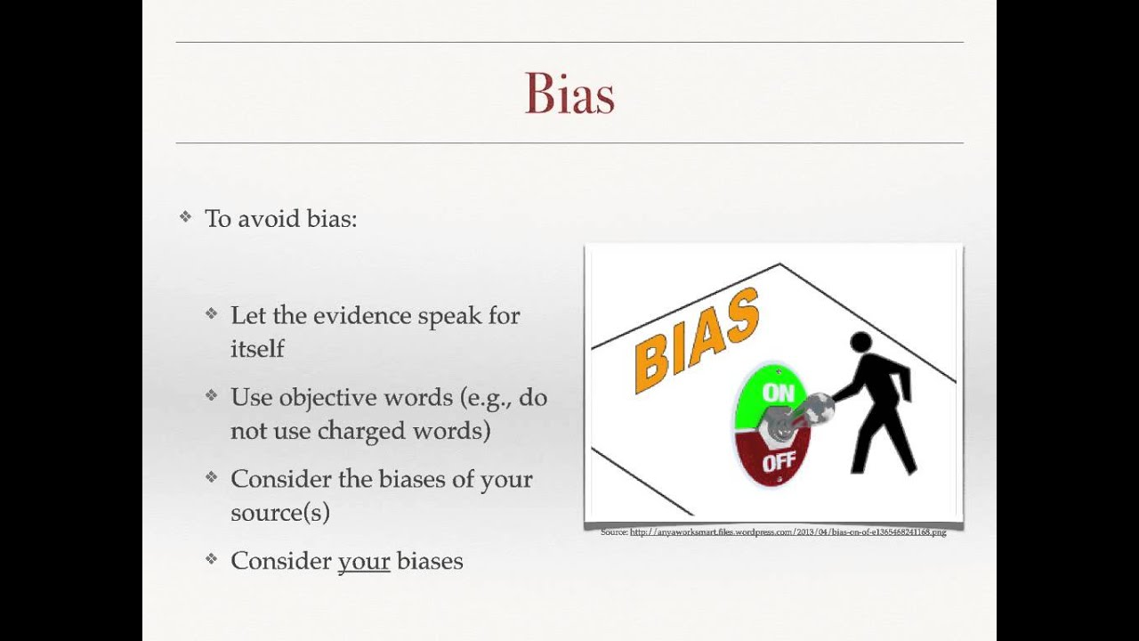 how to avoid bias