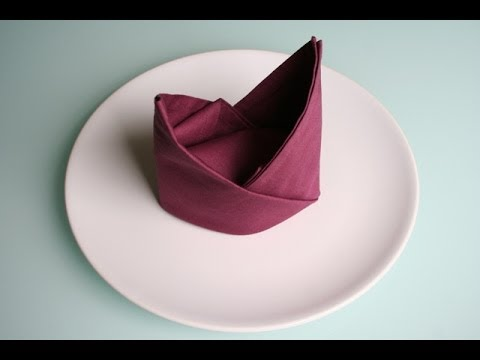 servietten falten bischofsm tze napkin folding bishop s hat youtube. Black Bedroom Furniture Sets. Home Design Ideas
