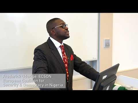 Frederick Odorige addresses President Muhammadu Buhari