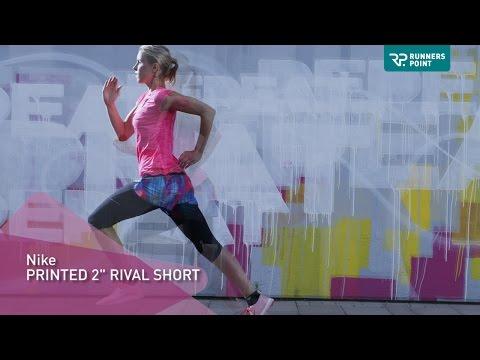 Nike Running Printed Rival Short Damen Laufhose