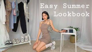 ✨쉬운 봄&여름 코디 !🦋 | Easy Summer Lookbook | Spring lookbook |