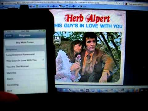 Herb Albert's This Guy's In Love With You iPhone Ringtone