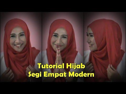 Tutorial Hijab Segi Empat Modern Simple