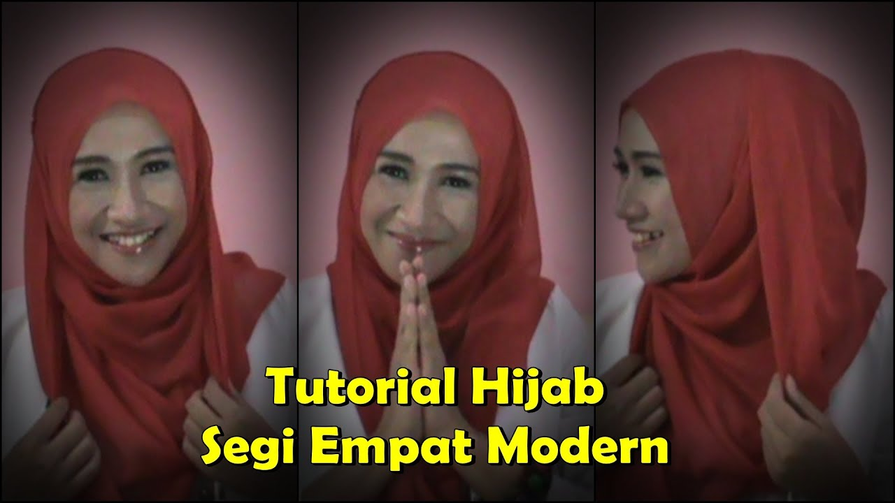 Tutorial Hijab Segi Empat Modern Simple YouTube