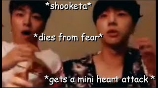 iKON getting scared moments (not from YG)