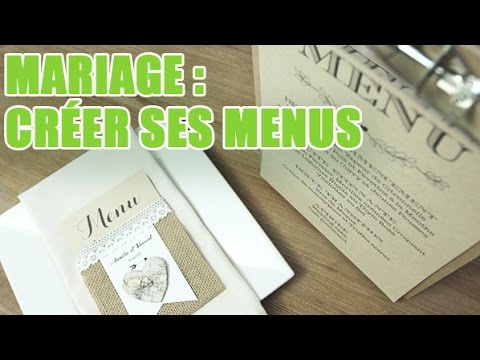 comment r aliser des menus imprim s pour votre mariage wedding planner youtube. Black Bedroom Furniture Sets. Home Design Ideas