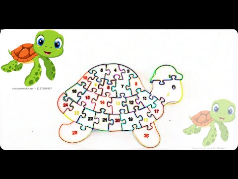 puzzle-eğitici oyuncaklar-yapboz-yapboz oyunları-sayılar-çocuk oyunları-kaplumbağa