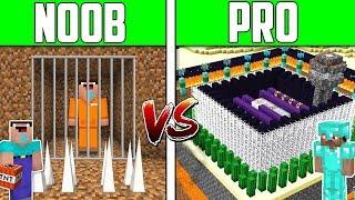 Minecraft NOOB vs PRO vs HACKER: PRISON ESCAPE Challenge in Minecraft / Animation