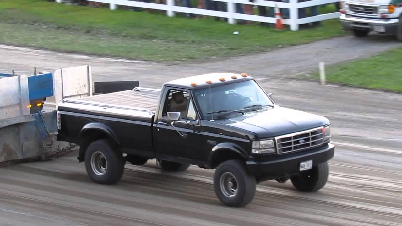 1995 f350 460 ford big block truck pull youtube
